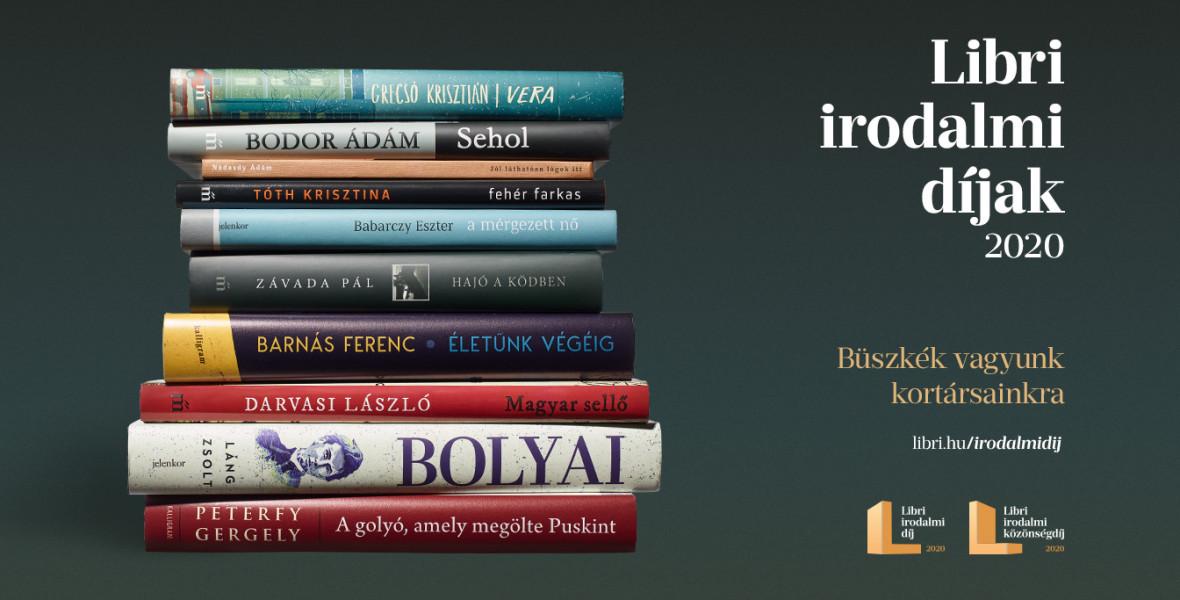 Május 8-ig szavazhatnak az olvasók a Libri irodalmi közönségdíjasra