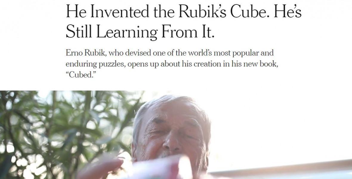 Rubik Ernőt az emberek és a kocka kapcsolata izgatja
