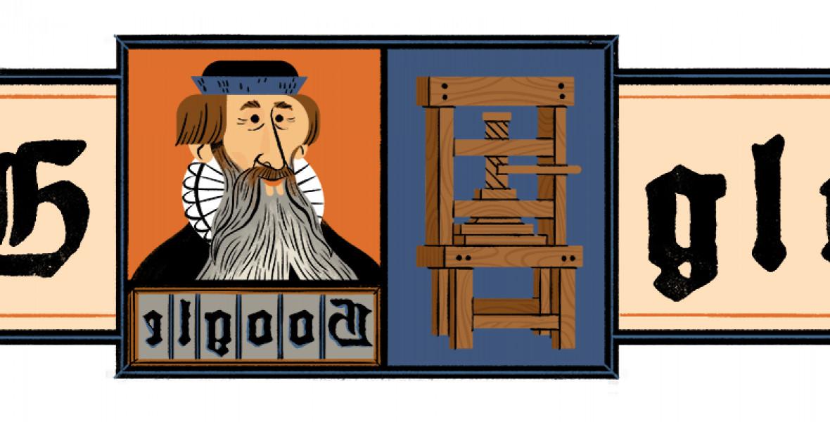 Gutenberget ünnepli a Google Doodle
