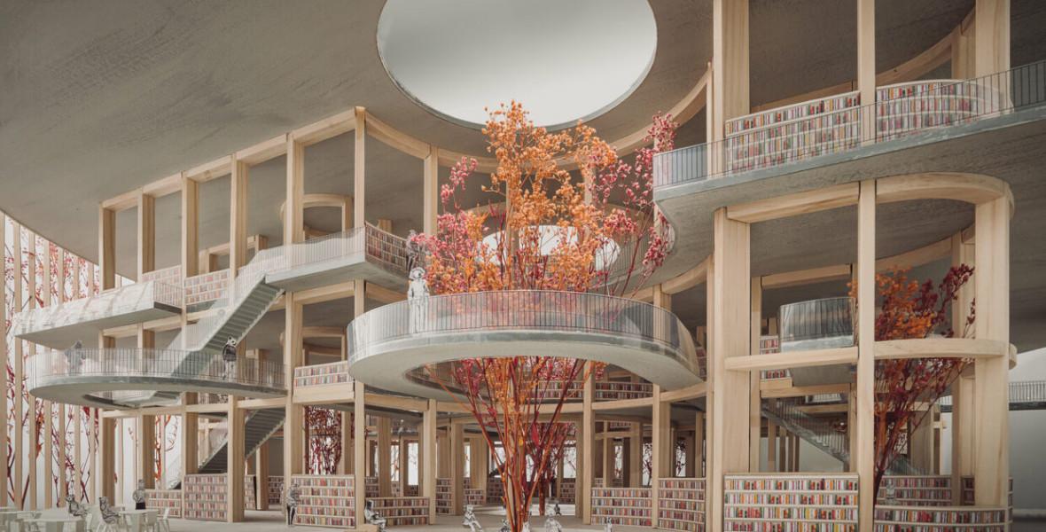Az emberi agy inspirálta ennek a könyvtárnak a tereit