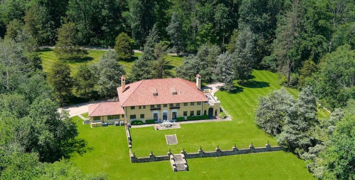 Eladó a gyönyörű kúria, ahol Mark Twain élete végén élt