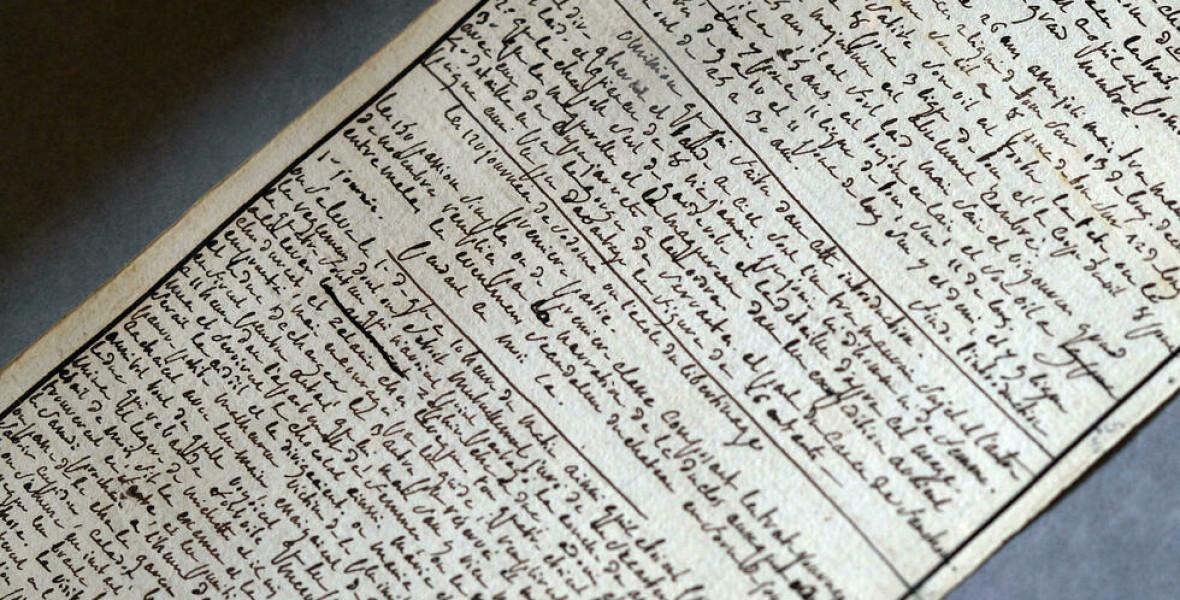 De Sade márki eredeti kéziratát a francia állam vette meg